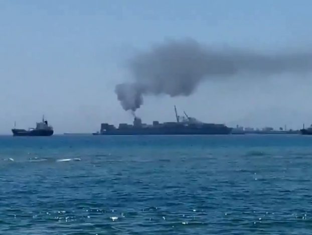 Photo of Maersk Boxship Fined after Spewing Smoke in Spain