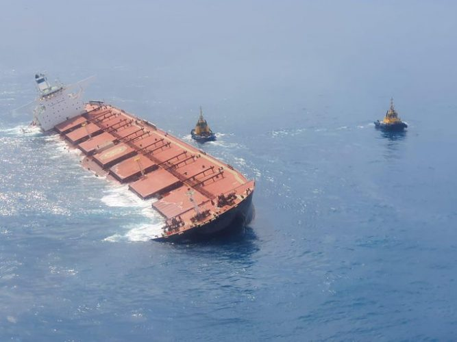 Photo of 20 Evacuated after Giant Iron Ore Ship Starts Listing